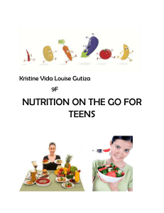 brochure nutrition on the gofor teens