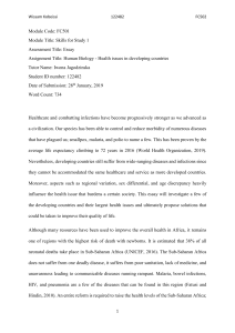 Essay Draft Human Biology