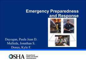 Emergency Prepareness and response di patapos