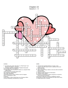 ST chapter 23 lesson 1 2 3 crossword