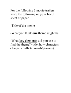 theme movie trailer directions