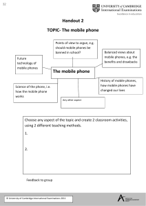 32. Handout 2 - Topic - The Mobile Phone