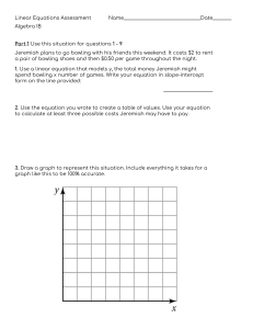 Linear Equations Assessment 9th grade algebra IB