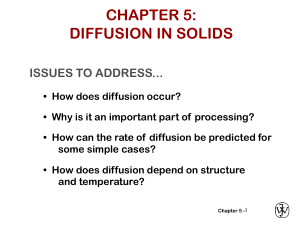 MATERIALS ENGINEERING DIFFUSION IN SOLIDS