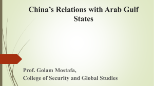 China's Relations with Arab Gulf States order