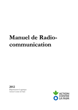 Manuel radio-communication