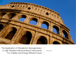 The Application of Triboelectric Nanogenerators In Musical Instruments