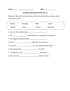 Vocabulary-Fill-In-P-1-Intermediate