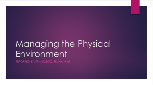 Managing the Physical Environment