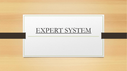 EXPERT SYSTEM - Information and communication technology