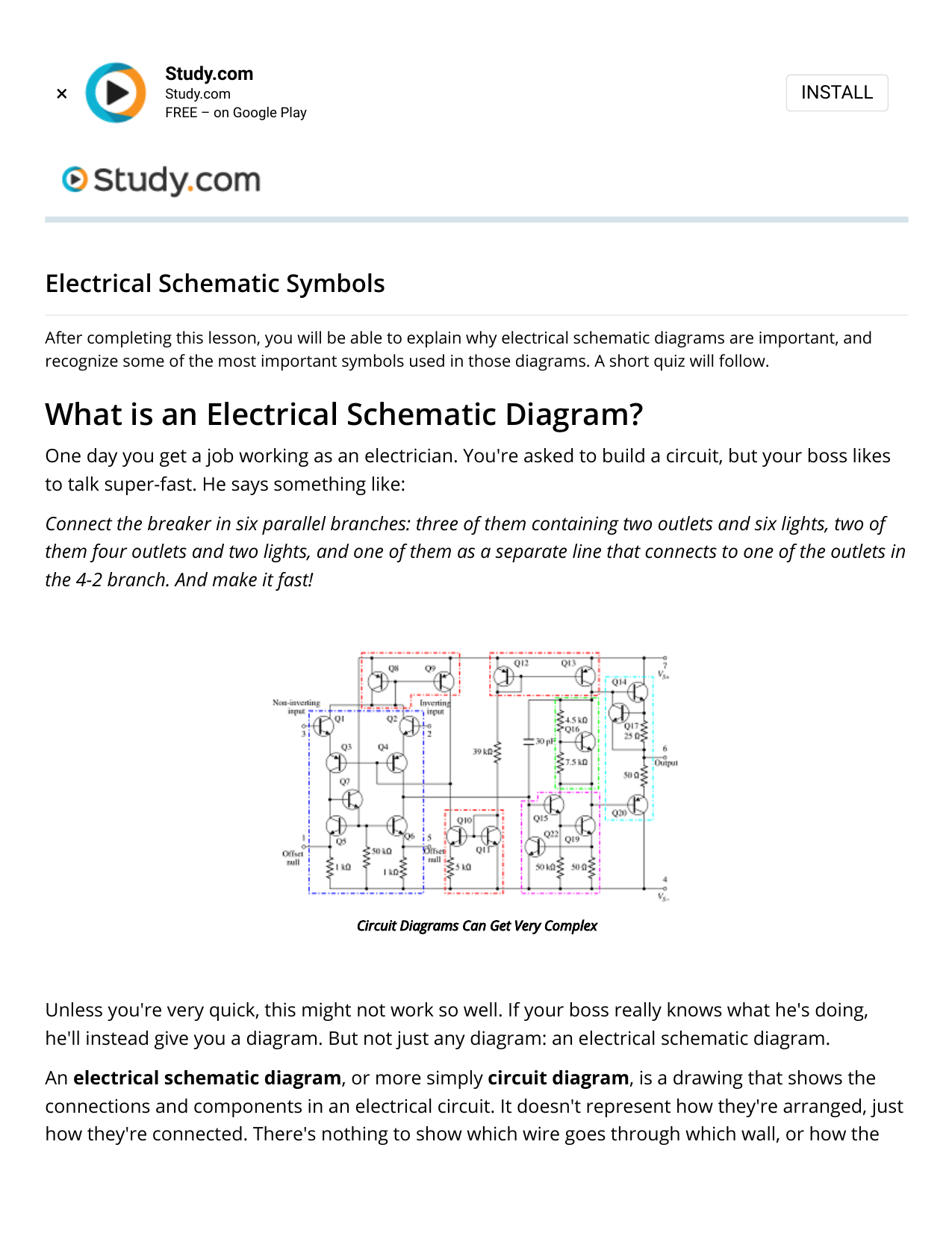 Electrical Schematic Symbols   Study.com [ 1651 x 1275 Pixel ]