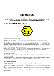 Standards and regulations - Ex Zones - ATEX IECEx