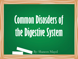 Common Disorders of the Digestive System