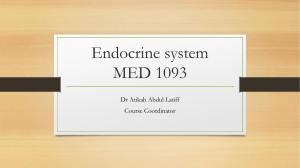 1. Briefing endocrine system