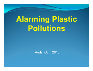 Speak to Inform4--Alarming Plastic Pollutions