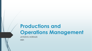 Productions and Operations Management