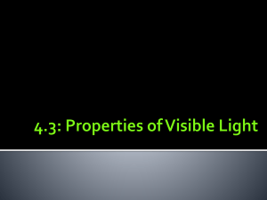 4.3 Properties of Visible Light