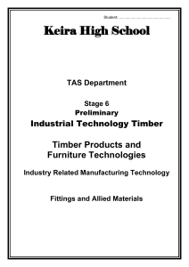 Stage 6 IND TECH TIMBER Fittings and Allied Materials Workbook