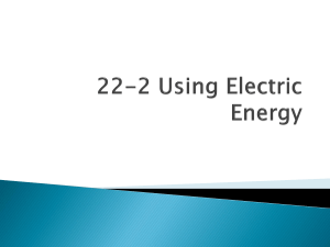 22-2 Using Electric Energy
