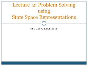 Lecture 2 State Space Search