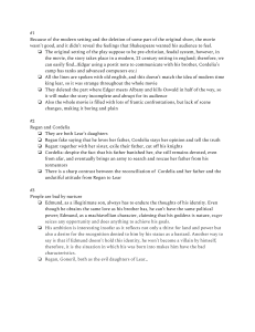 King Lear Short Answers