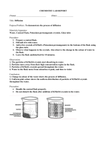 Guided Lab Report For Diffusion Topic