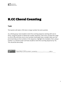 K.CC.A.1 Choral Counting