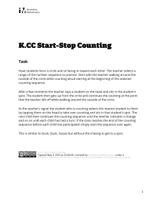 K.CC.A.2 Start-Stop Counting