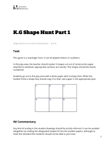 K.G.A Shape Hunt Part 1
