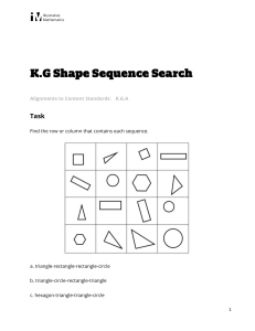 K.G.A Shape Sequence Search