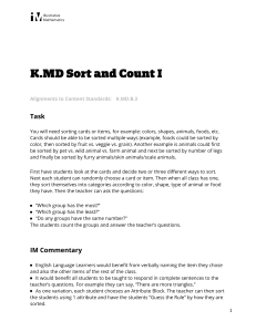 K.MD.B.3 Sort and Count I