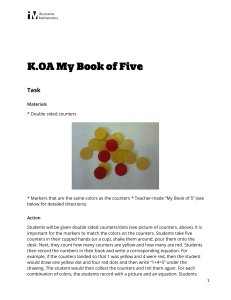 K.OA.A.5 My Book of Five
