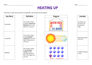 Convection, conduction and radiation match up edit