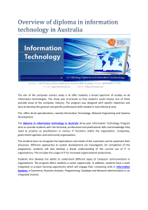 Overview of diploma in information technology in australia