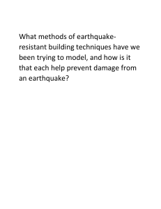 What methods of earthquake