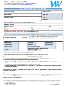 2018 ELECTRICAL PERMIT APPLICATION FORM