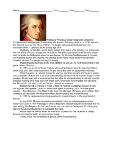 Mozart Worksheets