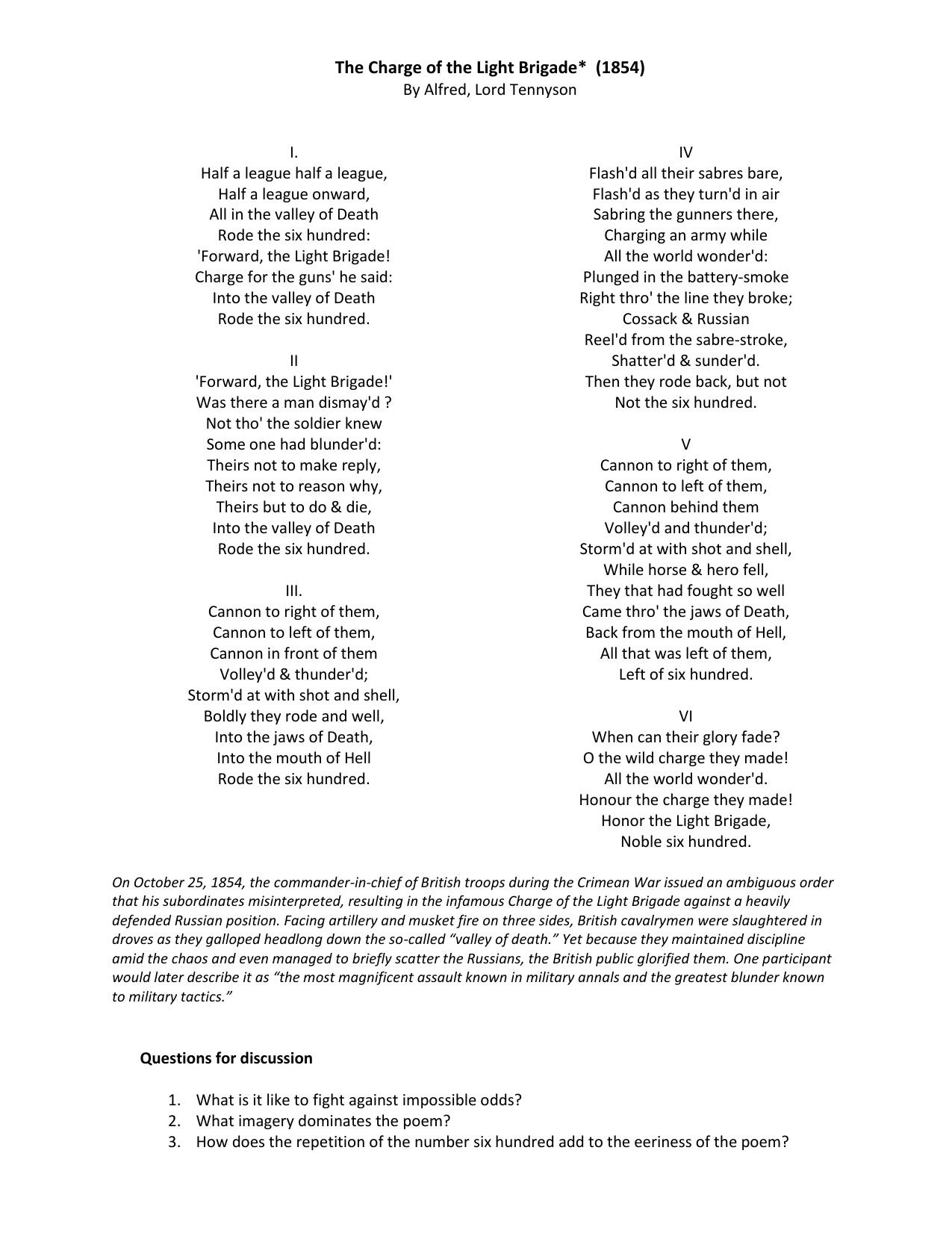 Four War Poems