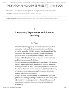 3 Laboratory Experiences and Student Learning   America's Lab Report  Investigations in High School Science   The National Academies Press