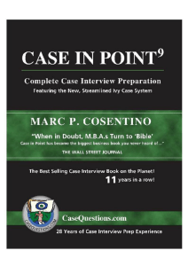 Marc P Cosentino - Case in Point 9  Complete Case Interview Preparation-Burgee Press (2016)
