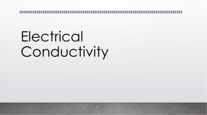 Electrical Conductivity Introduction Using Thomson's Atomic Model