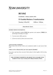BUS362 JAN 2013 Exam Paper 1402891403871