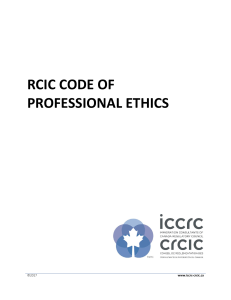 Code of Professional Ethics  Sept 2011