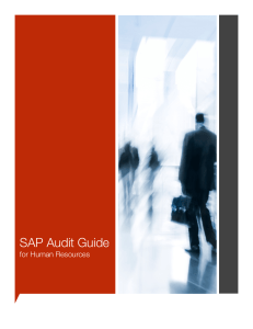 SAP Audit Guide Human Resources