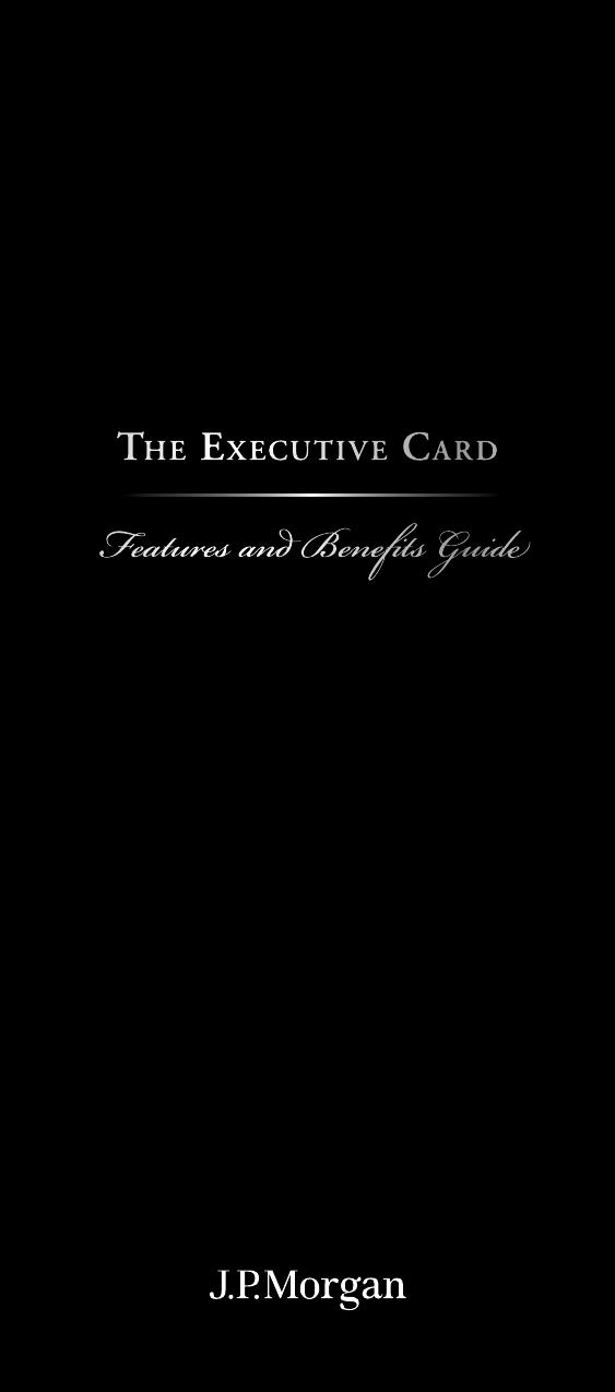 JPM Executive Welcome Brochure