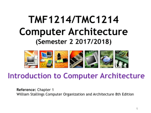 L1 - Introduction to Computer Architecture