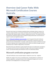 Professional Certification Training Melbourne