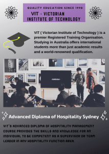 Advanced Diploma of Hospitality Australia