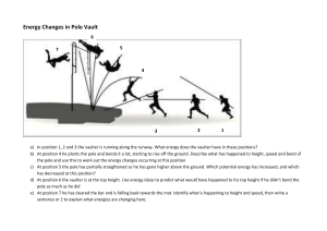 Pole vault energy changes