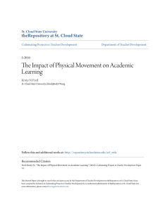 The Impact of Physical Movement on Academic Learning